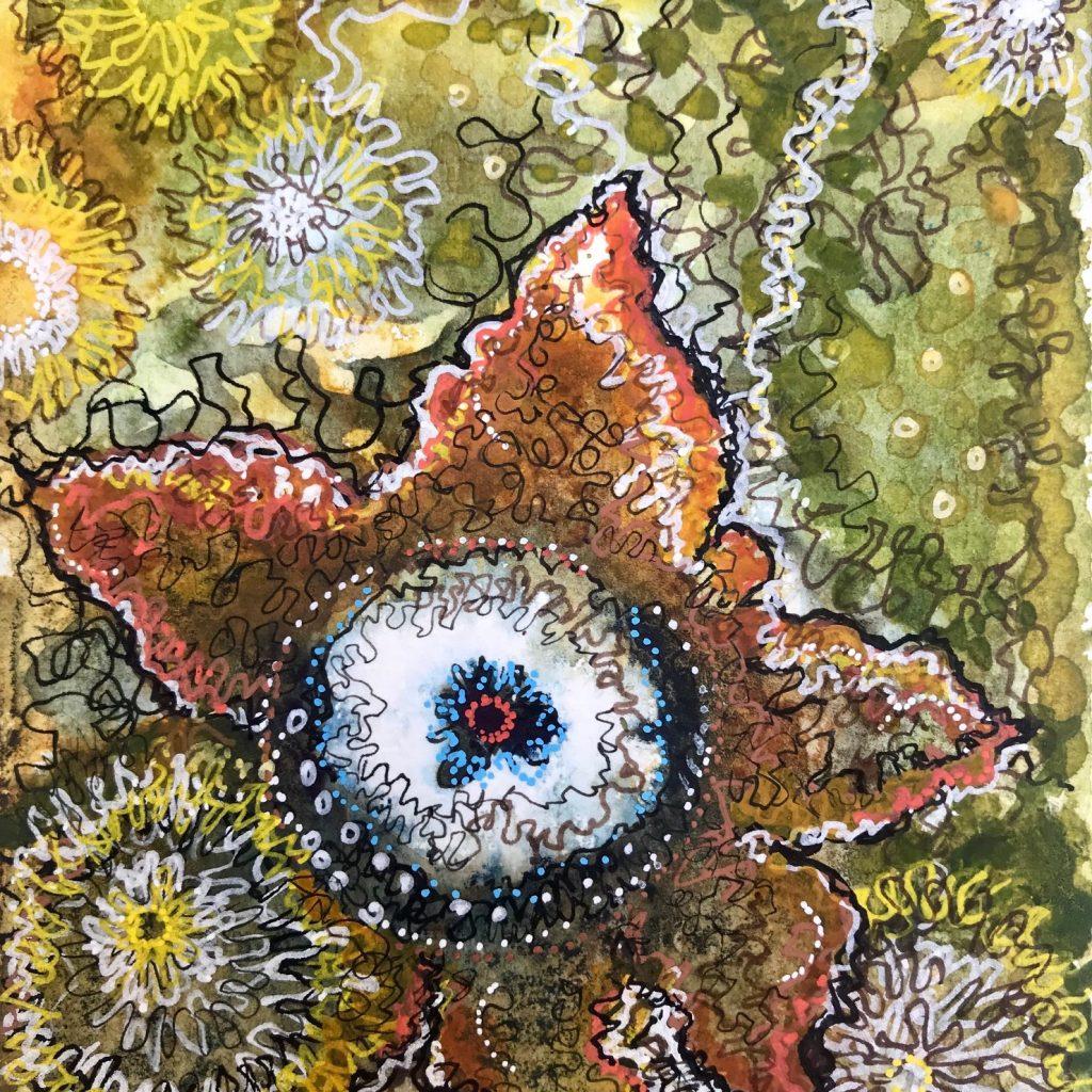 Common Earthstar Artwork by Kanj Nicholas